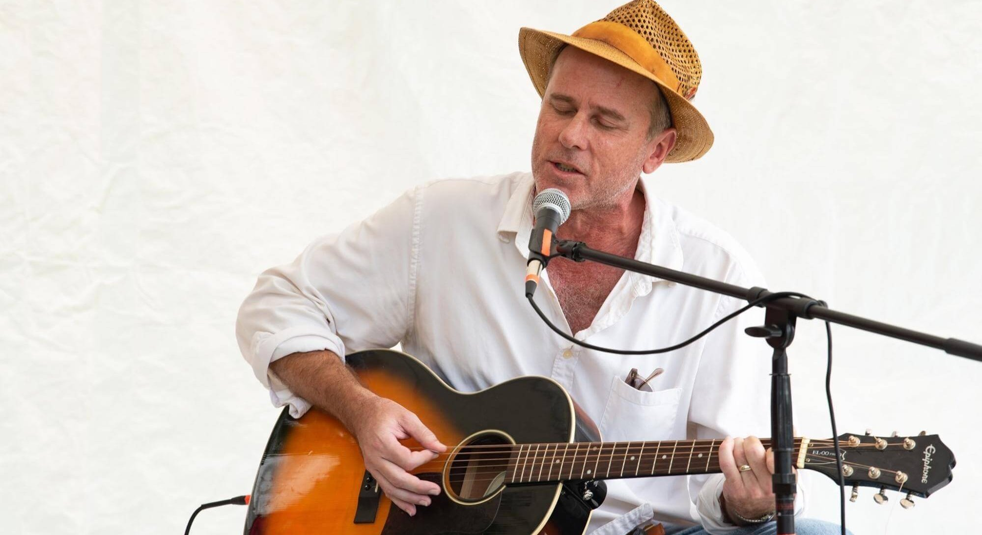 Neil Howard performs at the Woodstock 50-50 Festival, held Aug 17-18 2019 on the back lawn of the Colony in Woodstock